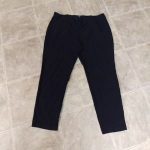Eileen Fisher Black Casual Cropped Pants Xlarge